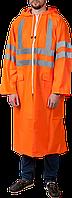 Плащ-дождевик ЗУБР 11617-52, сигнальный цвет, нейлоновый на молнии, размер 52-54