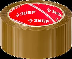 Клейкая лента, ЗУБР Мастер 12031-50, прозрачная, 48мм х 60м коричневая