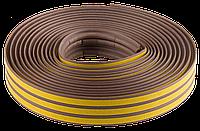 """Уплотнитель ЗУБР резиновый самоклеящийся профиль """"P"""", коричневый, 6м"""