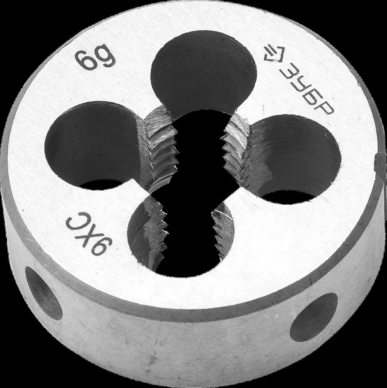 ЗУБР М4x0.7мм, плашка, сталь 9ХС, круглая ручная М5, 7, 0.8