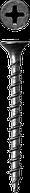 Саморезы СГД гипсокартон-дерево, 19 х 3.5 мм, 12 500 шт, фосфатированные, ЗУБР Профессионал 25, 9000