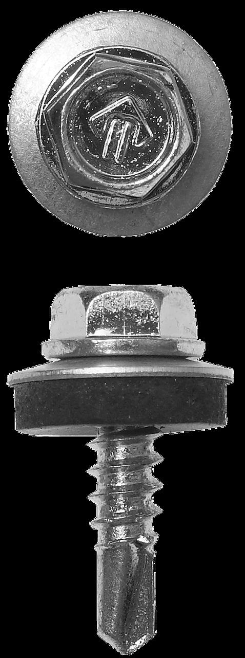 Саморезы СКМ кровельные, 19 х 5.5 мм, 500 шт, для металлических конструкций, ЗУБР Профессионал 50, 230