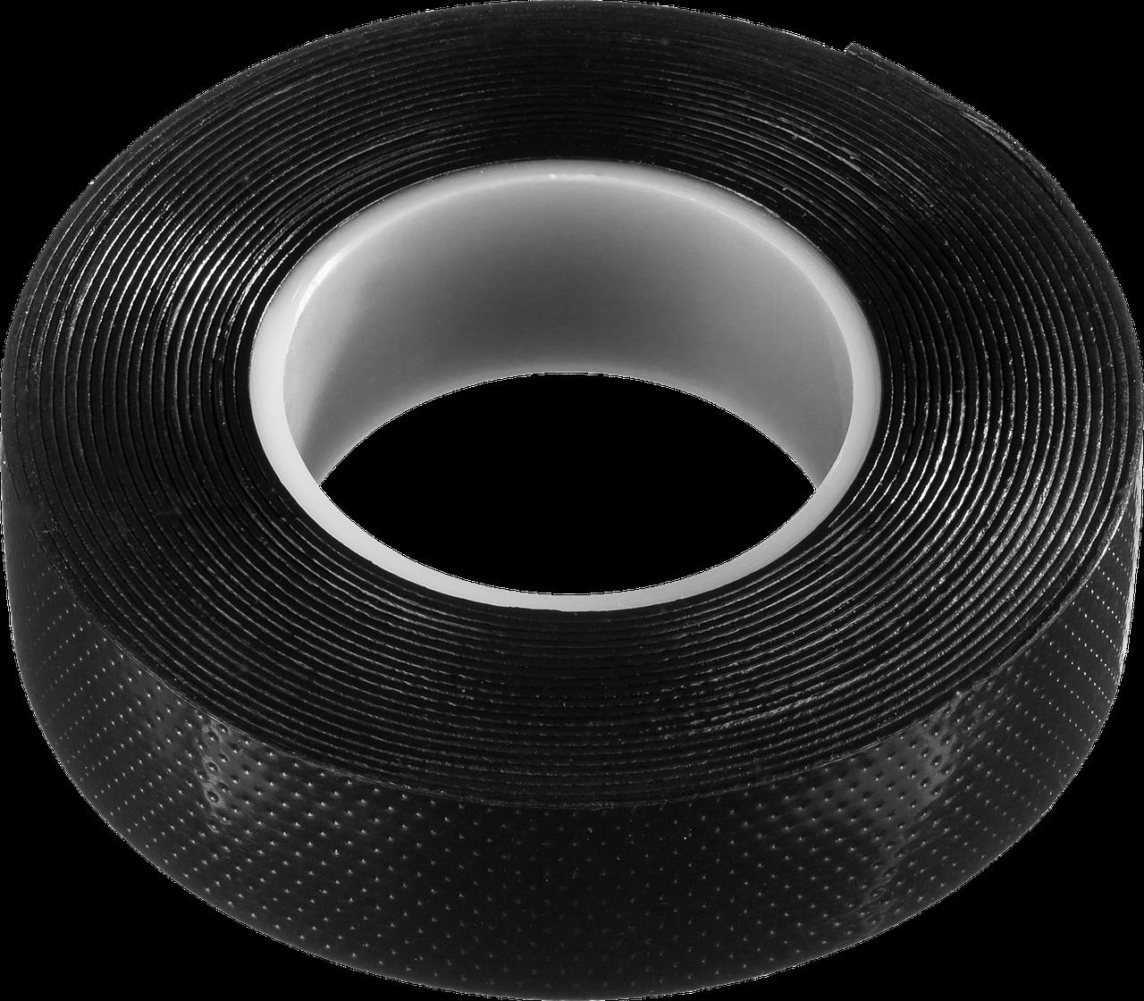 ЗУБР Вулкан черная самовулканизирующаяся изолента, 5м х 19мм