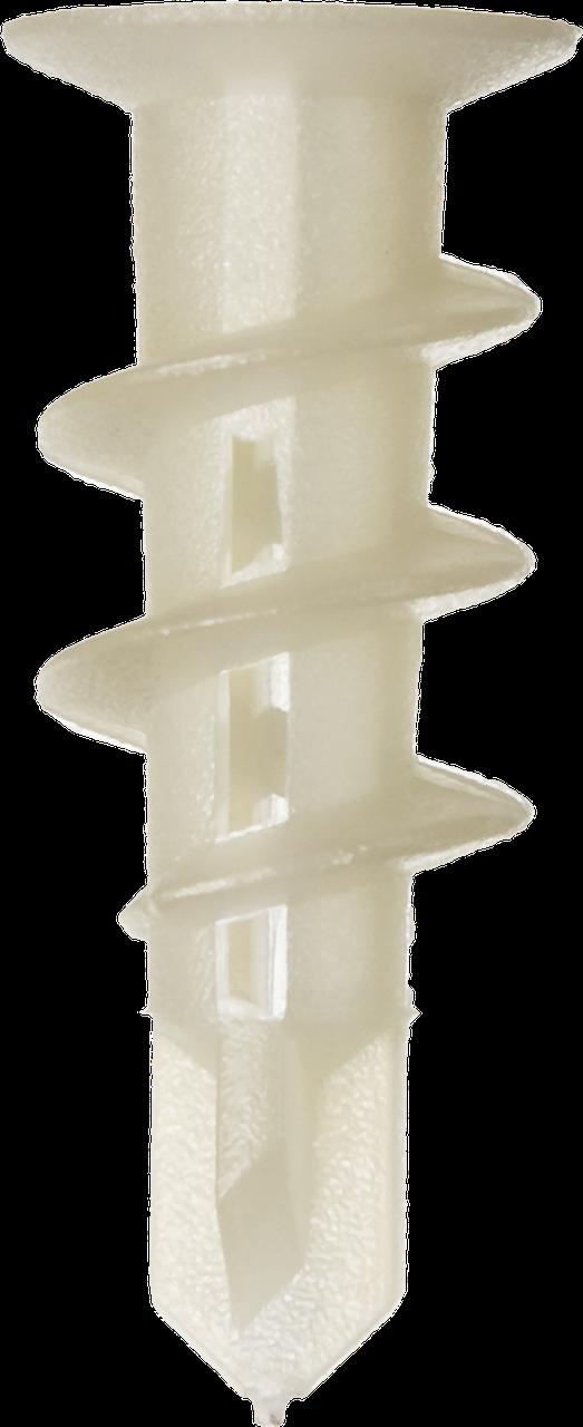 """Дюбель нейлоновый, тип """"Дрива"""" со сверлом, для гипсокартона, 33 мм, 100 шт, ЗУБР"""