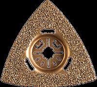 Насадка шлифовальная c карбид-вольфрамовым напылением ВК-8, треугольная, сторона 80 мм, ЗУБР Профессионал,, фото 1