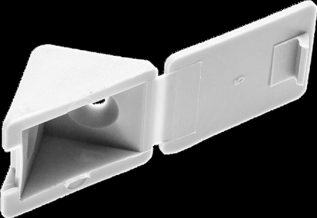 Уголок мебельный с шурупом, цвет дуб, 4,0x15мм, 4шт, ЗУБР Белый