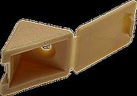 Уголок мебельный с шурупом, цвет дуб, 4,0x15мм, 4шт, ЗУБР сосна