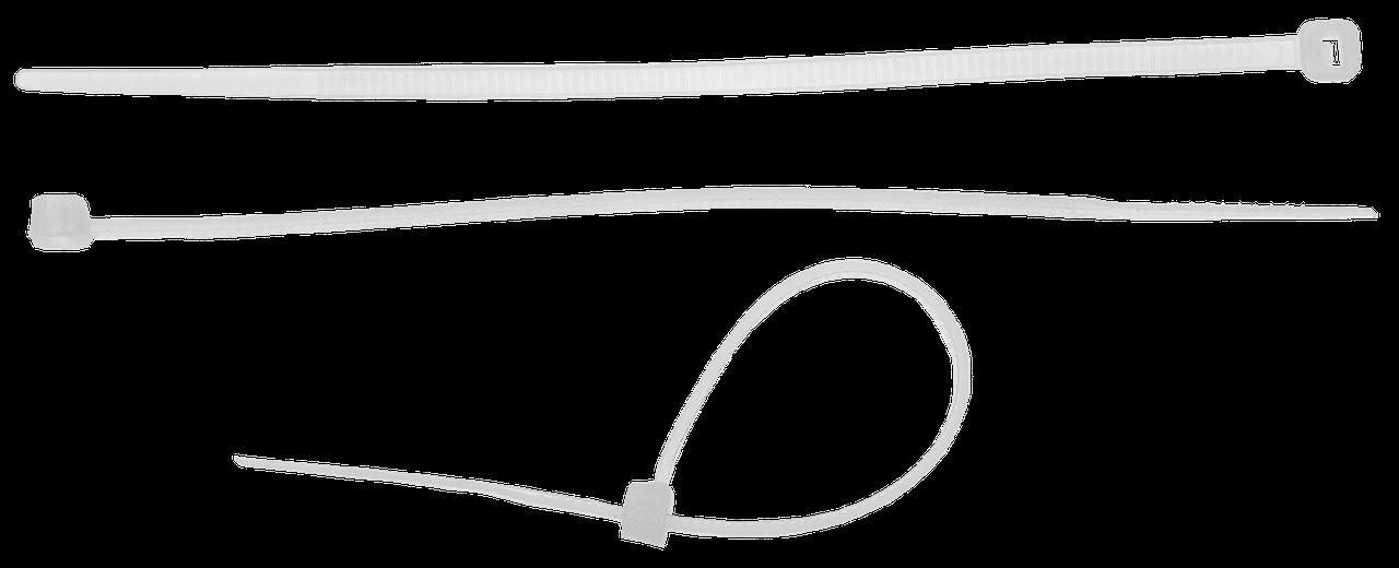 Кабельные стяжки белые КС-Б2, 4.8 х 500 мм, 25 шт, нейлоновые, ЗУБР Профессионал