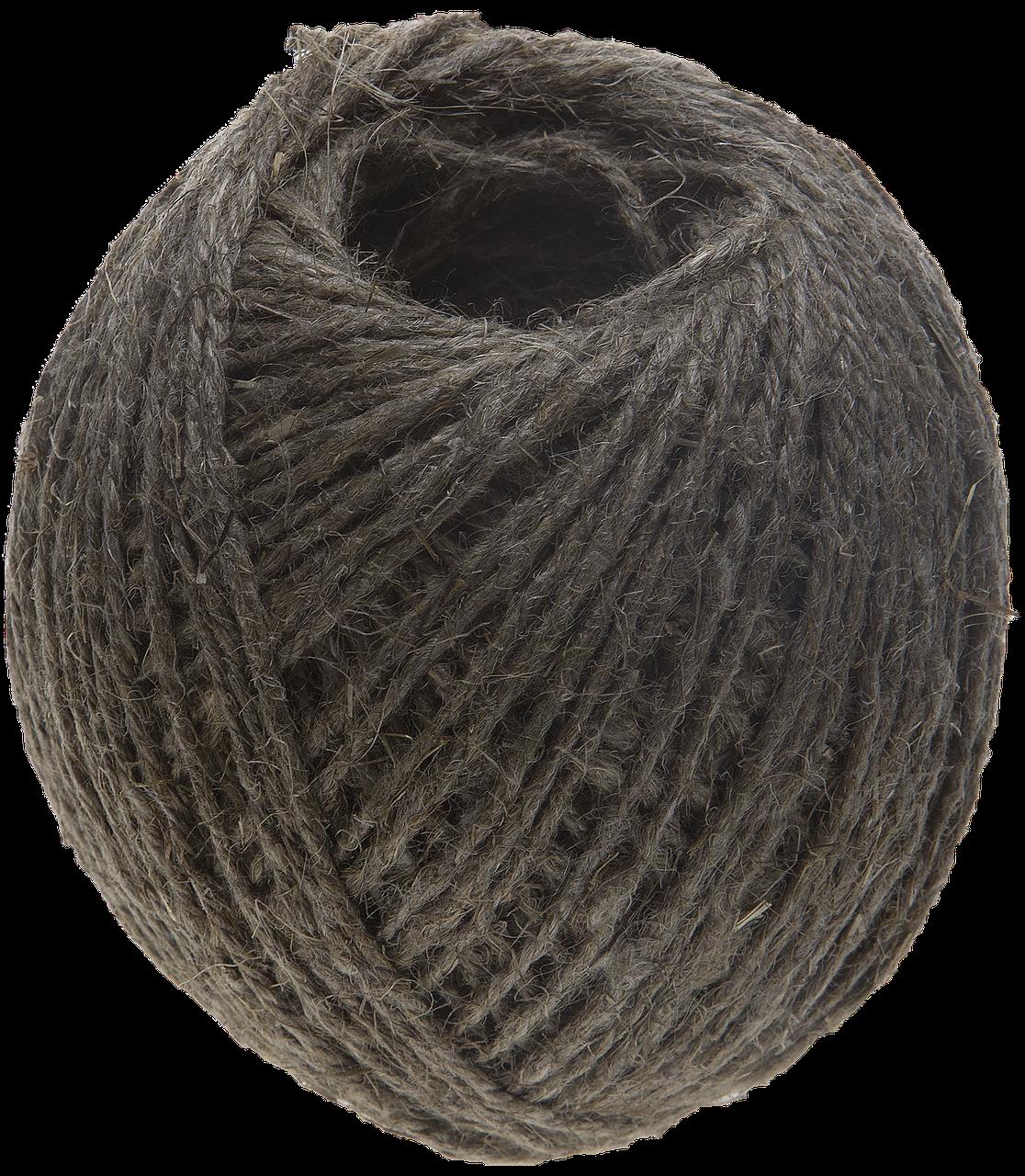 Шпагат льнопеньковый, d=1,4 мм, 100 м, 13,5 кгс, 1,25 ктекс