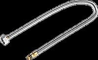 """Подводка ЗУБР """"ЭКСПЕРТ"""" сильфонная из нержавеющей стали, для смесителя, укороченная, г/ш (гайка-штуцер), 1/2"""","""