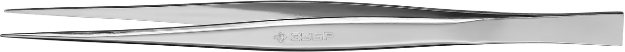 Пинцет ЗУБР д/электроники и точной механики, нерж сталь, антимагнит, прямой, сверхтонк заострен губки, 120 мм