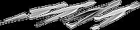 Набор ЗУБР: Пинцеты, нержавеющая сталь, прямой, заостренные губки, изогнутый, самозажимной прямой, плоские и