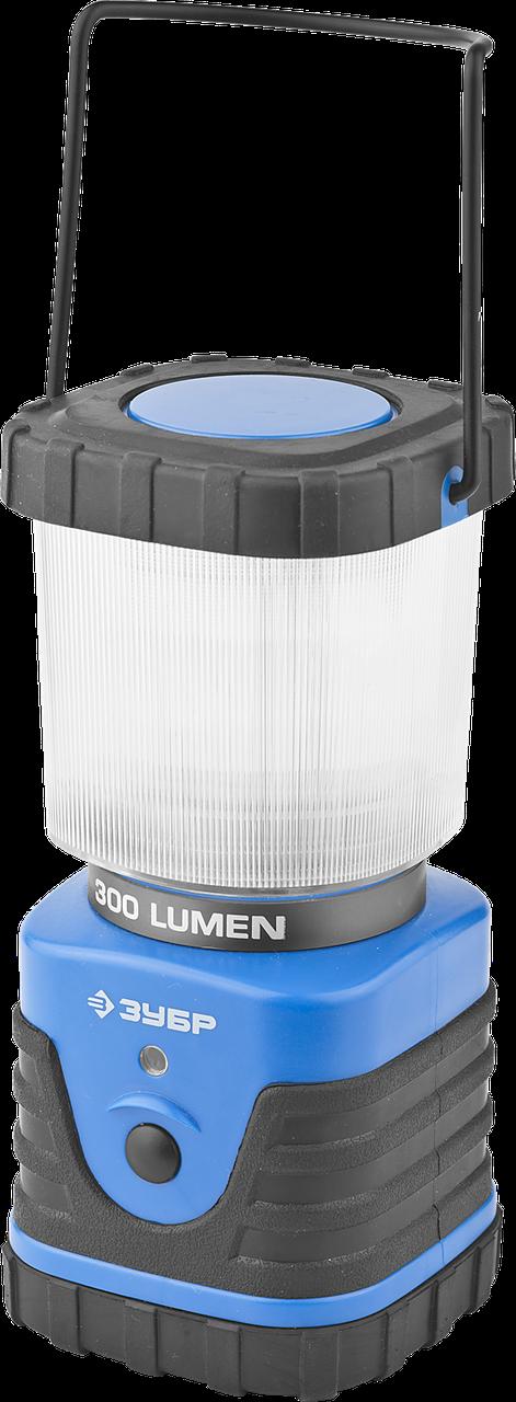 Светильник ЗУБР светодиодный кемпинговый, 3 режима, 3*D, 8Вт(300Лм)