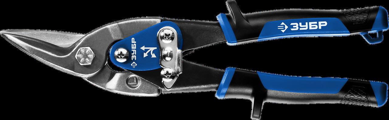 ЗУБР ПРОФЕССИОНАЛ Левые ножницы по металлу, 250 мм