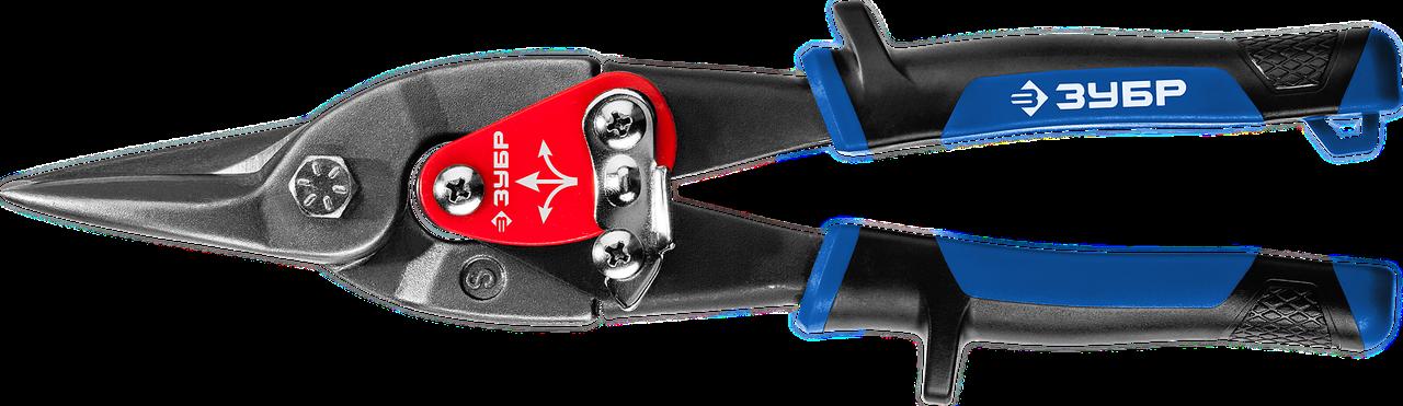 ЗУБР ПРОФЕССИОНАЛ Прямые ножницы по металлу, 250 мм