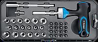 ЗУБР Профессионал набор 38 шт: отвертка реверсивная с насадками, фото 1