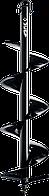 Шнек для мотобуров, грунт, d=100 мм, однозаходный, ЗУБР 200, Для мотобуров ЗУБР МБ1-200, МБ1-200 Н, МБ2-250,, фото 1