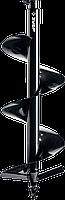 Шнек для мотобуров, грунт, d=100 мм, однозаходный, ЗУБР 250, Для мотобуров ЗУБР МБ2-250, МБ2-250 Н, МБ2-300,, фото 1