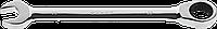 Комбинированный гаечный ключ трещоточный 8 мм, ЗУБР 285, 22, фото 1