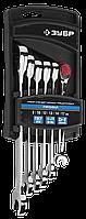 Набор комбинированных гаечных ключей трещоточных 6 шт, 8 - 17 мм, ЗУБР, фото 1