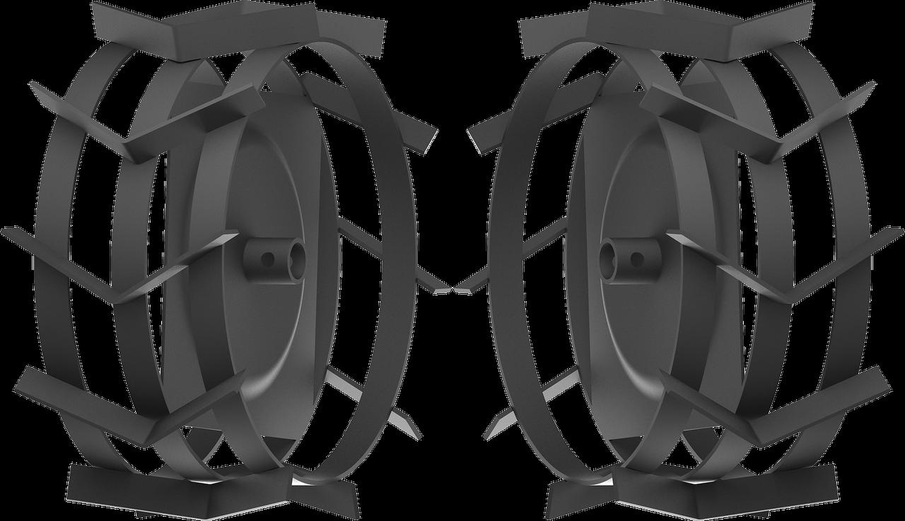 ЗУБР ГР-425 грунтозацепы для мотоблоков, 425х200 мм, набор 2 шт
