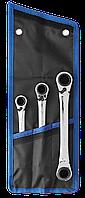 Набор накидных гаечных ключей трещоточных 3 шт, 8 - 19 мм, ЗУБР, фото 1
