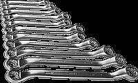 Набор накидных гаечных ключей изогнутых 11 шт, 8 - 27 мм, ЗУБР