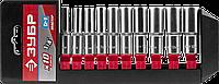 """ЗУБР МАСТЕР 1/4""""  набор торцовых головок удлиненных 10 предм."""