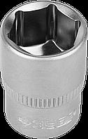"""Головка торцовая ЗУБР """"Мастер"""" (1/4""""), Cr-V, FLANK, хроматированное покрытие, 6мм 10"""