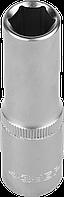 """Головка торцовая ЗУБР """"Мастер"""" (1/2""""), удлиненная, Cr-V, FLANK, хроматированное покрытие, 8мм 12"""