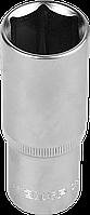 """Головка торцовая ЗУБР """"Мастер"""" (1/2""""), удлиненная, Cr-V, FLANK, хроматированное покрытие, 8мм 17"""