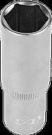 """Головка торцовая ЗУБР """"Мастер"""" (1/2""""), удлиненная, Cr-V, FLANK, хроматированное покрытие, 8мм 19"""