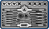 ЗУБР 24 предмета, набор метчиков и плашек, сталь Р6М5, фото 1
