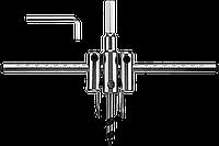 "Сверло ЗУБР ""Мастер"" регулируемое по дереву, двухрезцовое ""Балеринка"", d=40-120мм, 1-30мм, в блистере от 40мм, фото 1"