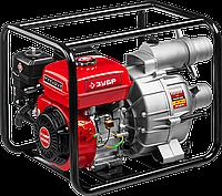 Мотопомпа бензиновая, ЗУБР МПГ-1000-80, для грязной воды, 1000 л/мин (60 м3/ч), патрубки 80 мм, напор 26 м,, фото 1