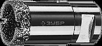 ЗУБР коронка алмазная по керамограниту, вакуумное спекание алмазов, d=14 мм, посадка М14, Профессионал 29, фото 1