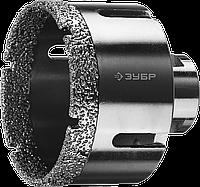 ЗУБР коронка алмазная по керамограниту, вакуумное спекание алмазов, d=14 мм, посадка М14, Профессионал 68, фото 1