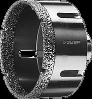 ЗУБР коронка алмазная по керамограниту, вакуумное спекание алмазов, d=14 мм, посадка М14, Профессионал 83, фото 1
