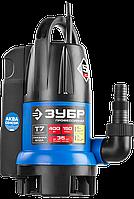 ЗУБР Профессионал НПГ-Т7-400 АкваСенсор, дренажный насос с регулируемым датчиком уровня воды, 400 Вт, фото 1