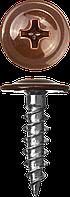 Саморезы ПШМ для листового металла, 16 х 4.2 мм, 500 шт, RAL-3005 темно-красный, ЗУБР 25, 400, RAL 8017