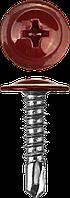 Саморезы ПШМ-С со сверлом для листового металла, 16 х 4.2 мм, 500 шт, RAL-3005 темно-красный, ЗУБР 25, 400,