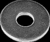 Шайба DIN 9021 кузовная, 6 мм, 5 кг, оцинкованная, ЗУБР, фото 1