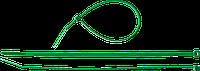 Кабельные стяжки зеленые КС-З1, 3.6 x 200 мм, 100 шт, нейлоновые, ЗУБР Профессионал, фото 1
