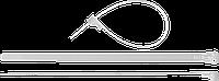 Кабельные стяжки разъемные белые КСР-Б1, 7.5 x 150 мм, 100 шт, нейлоновые, ЗУБР Профессионал 200, фото 1