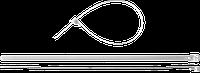 Кабельные стяжки разъемные белые КСР-Б1, 7.5 x 150 мм, 100 шт, нейлоновые, ЗУБР Профессионал 250, фото 1