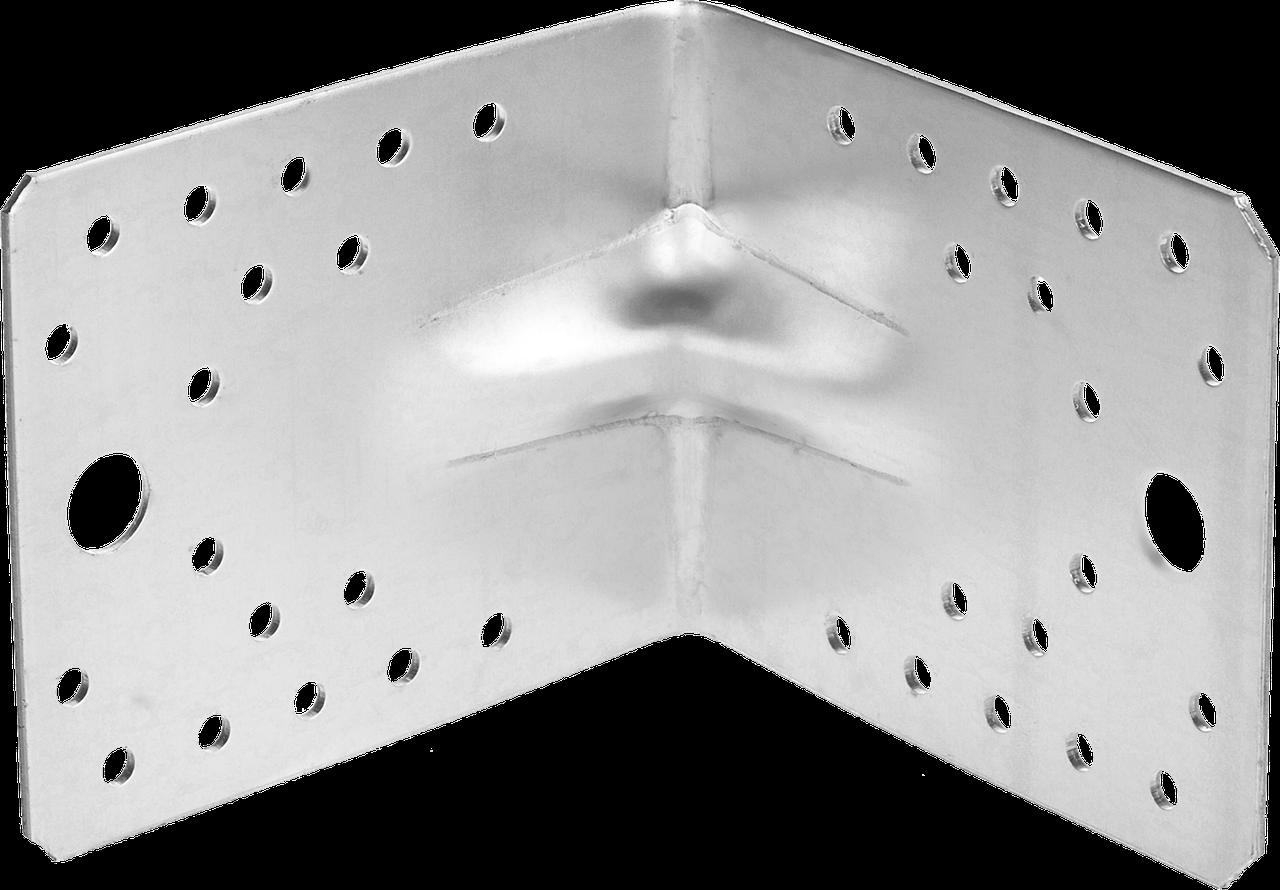 Уголок крепежный усиленный УКУ-2.0, 35х50х50 х 2мм, ЗУБР 13, 21.9, 90 х 105 х 105