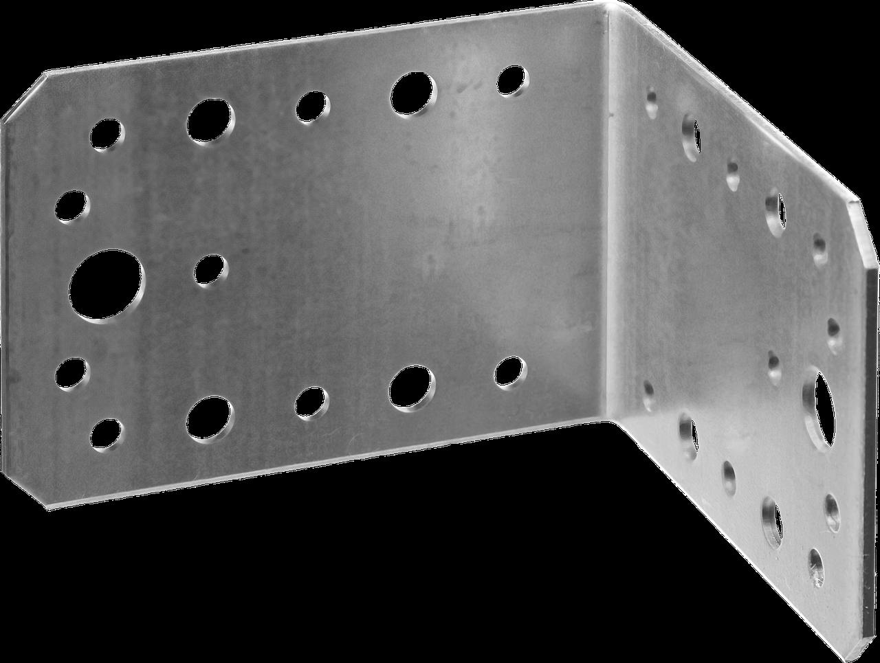 Уголок крепежный УК-2.0, 35х50х50 х 2мм, ЗУБР 11, 65 х 90 х 90