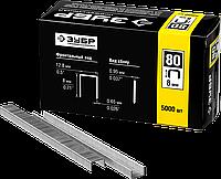 ЗУБР 6  мм скобы для степлера тонкие широкие тип 80, 5000 шт 8, фото 1