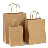 Белые бумажные и крафтовые пакеты для нанесение логотипа, фото 4