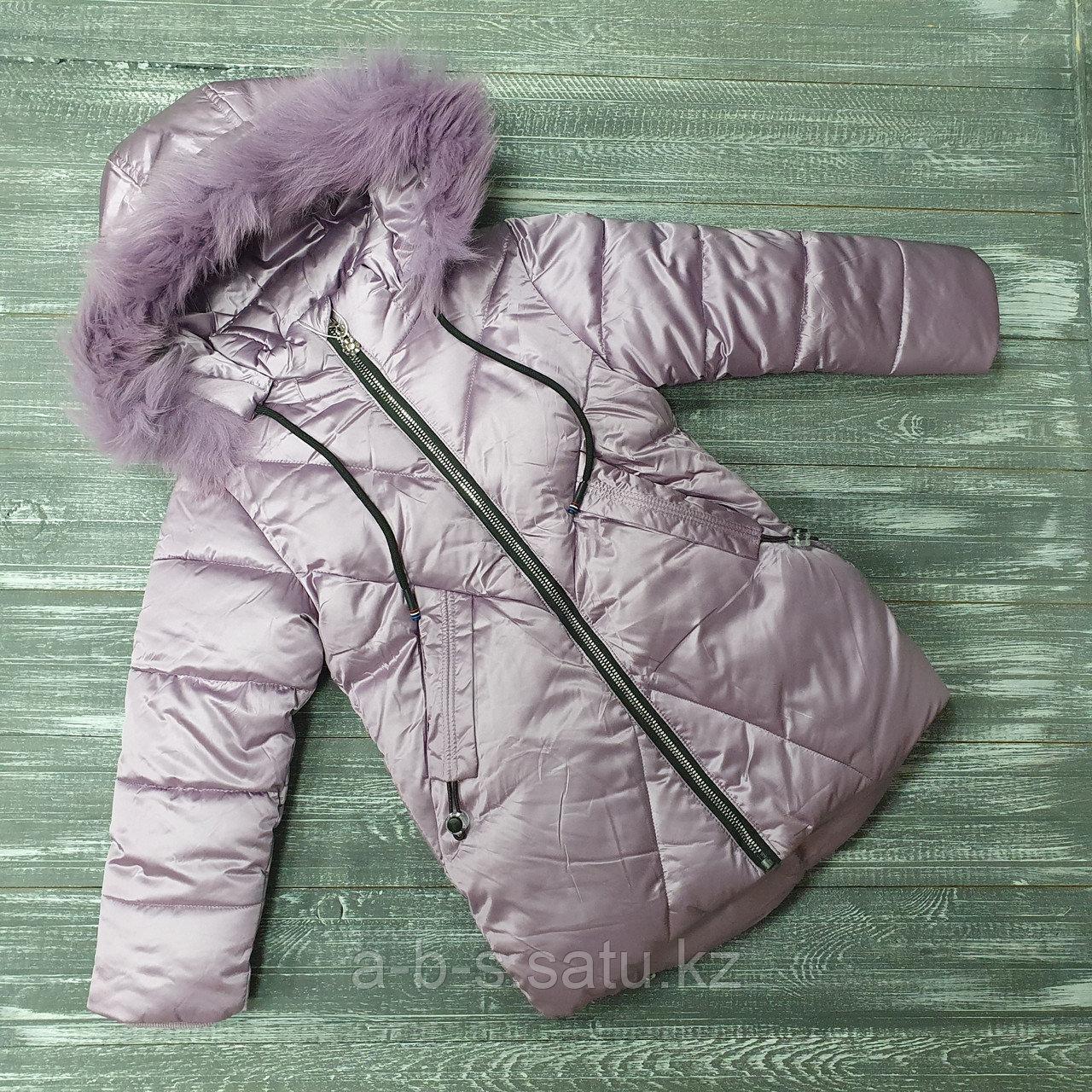 Зимняя куртка в лавандовой расцветке